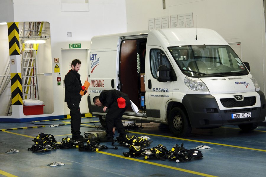 Camion trafic protection